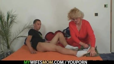 Motherinlaw Penetrates Him And Wifey Comes In