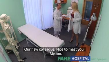 Fakehospital Fresh Nurse Takes Dual Jizz Flow From Super-naughty Doctor