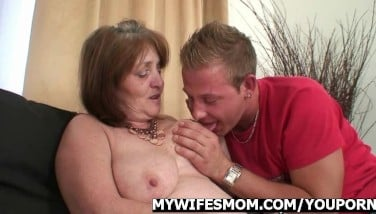 Motherinlaw Rails Youthful Shaft And Wifey Comes In