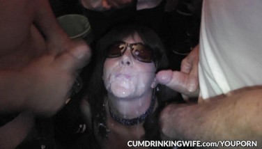 Hot Wifey Marion Gang-fucked By 100's Of Guys