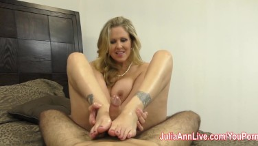 Julia Ann Is Super-naughty And Gives Footjob