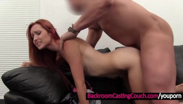 Cute Redhead Booty Penetrated And Creampied