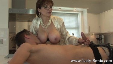 Lady Sonia Gives Youthful Employee Fellatio Facial Cumshot Cumshot