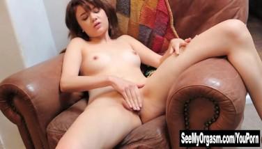 Asian Lily Masturbating