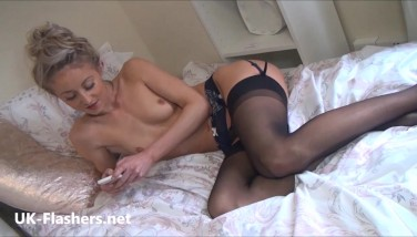 Sexy Light-haired Teenager Sallys Public Demonstrating And Daring Exhibitionist Adventures Of Lovely Damsel Next Door Honey Outdoors
