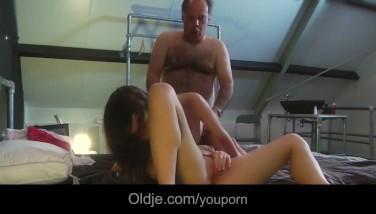 Grandpa Dual Cock-squeezing Beaver Penetrate With Soiree Teenagers Facial Cumshot Shots