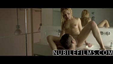 Nubilefilms  Gonzo Dick Rail For Puny Blonde