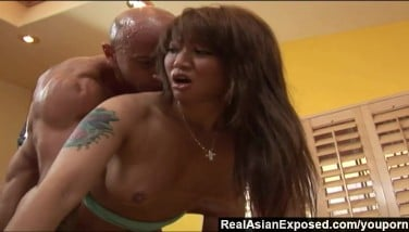 Realasianexposed  Bigboobed Chinese Honey Is Prepped For Gigantic Milky Dick