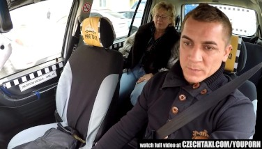 Czech Mature Blond Thirsty For Taxi Drivers Cock