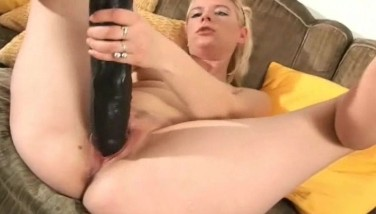 Blonde With Fat Brutish Dildo