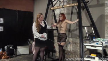 Lesbian Play Piercing Fetish In Restrain Bondage With Filthy Mary
