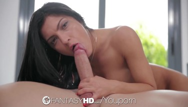 Fantasyhd  Showering Stunner Satan Gets Interrupted By Cock