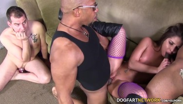 Giselle Leon Takes 2 Ebony Hard-ons  Cheating Sessions