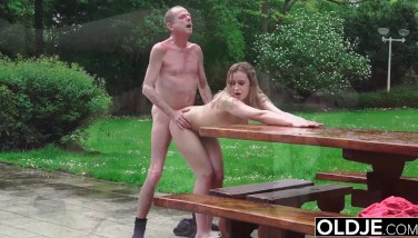 Hot Student Teenager Pokes Old Stud Doggystyle With Fellatio And Jism Swallow
