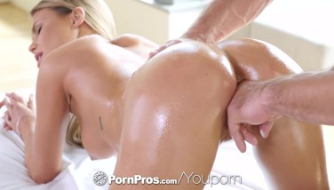 Pornpros Dark Haired Kendall Kayden Pummeled And Covered After Massage