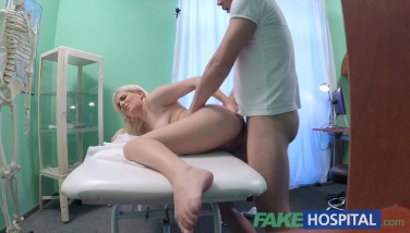 Fake Hospital Timid Patient With Soddening Raw Fuckbox Sprays On Docs Fingers