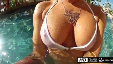 Johnny Sins Tears Up The Pool Dame  Sins Life