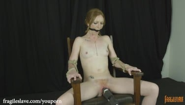 Katy Smooch Stool Trussed Restrain Bondage Orgasms