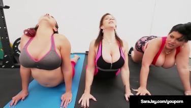 Sara Jay Gia Enjoy And Angelina Castro Do Some Sapphic Yoga