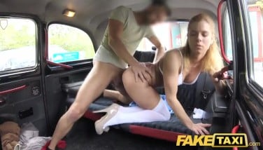 Fake Taxi Nurse In Wonderful Underwear Has Car Sex