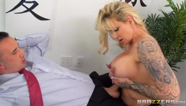 Busty Office Mummy Gets Banged By Huge Pink Cigar In The Backside  Brazzers