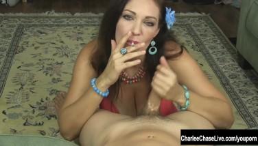 Smoking Torrid Mummy Charlee Haunt Jacks A Rock-hard Cock