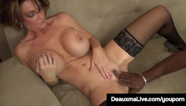 Milf Chief Deauxma Gets An Employee's Big Black Cock With A Huge Bang