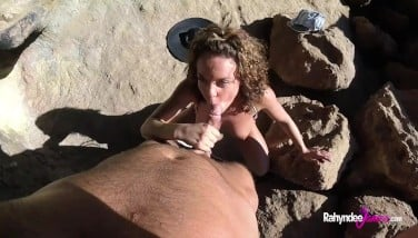 Rahyndee James Point Of View Pulverizing At Beach