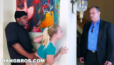 Bangbros  Intense Arming Aj Applegate's Cock-squeezing Coochie Behind Bf's Back