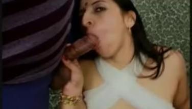 Hot Nymphomaniac Indian Stunner Spunk-pump Inhales Two
