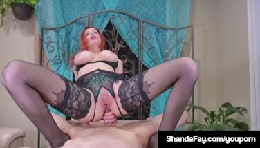 Canadian Cougar Shanda Fay Gets Rigid Assfuck Boink From Customer