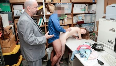 Shoplyfter  Adorable Teenager Caught And Smashed While Daddy Watches
