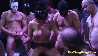 Cute Salma De Nora In A Real Group Sex Orgy