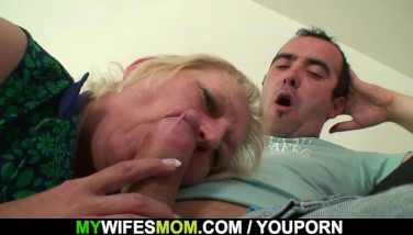 Busty Granny Plumbs Soninlaw After His Wifey Leaves