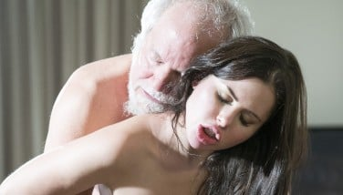 Teen Interrupts Grandpa From Yoga And Deep Throats His Beef Whistle Raw And Hard