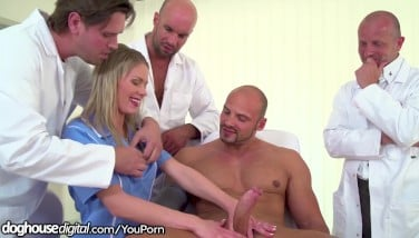 Trio Doctors 1 Patient And A Youthfull Nurse Gangbang