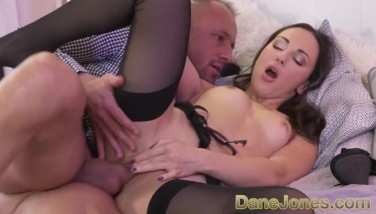 Dane Jones Messy Blowage And Raunchy Fucky-fucky For Puny Russian Brunette