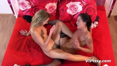 Lesbian Piss  Aika May And Vanessa Twain Pee Sopping Lesbians