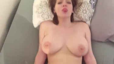 Amateur Redhead With Ample Mounds Gets Face Utter Of Cum