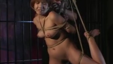Traditional Jav Shibari Cable Trussing With Bare Schoolgirl