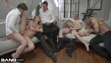 Glamkore  Vinna And Nikky Take On 5 Studs For A Gang Fuck
