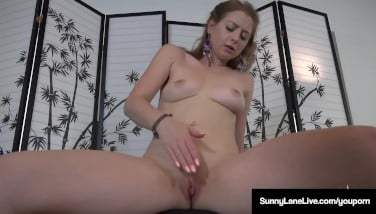 Super Starlet Sunny Lane Pats Her Cooter To A Brilliant Humid Orgasm