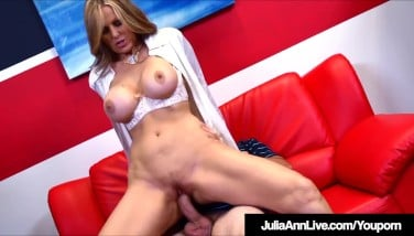 Busty Mummy Julia Ann Tears Up Her College Girl While Tutoring Him