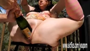 Double Going Knuckle Deep And Xxl Wine Bottle Nailed Bbw