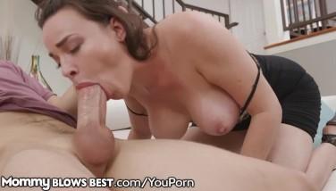Cougar Mother Dana Dearmond Demonstrates Stepson How She Blows