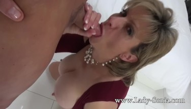 Lady Sonia Mature Cockslut Lubricated Up And Deep-throating Cock
