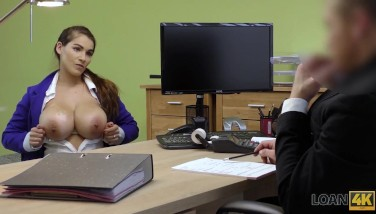 Loan4k. Mischel Lee Loves Lovemaking For Cash With Boss In His Office
