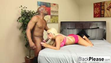 Busty Blond Jacky Fun Keeps Her Glasses On During Sex