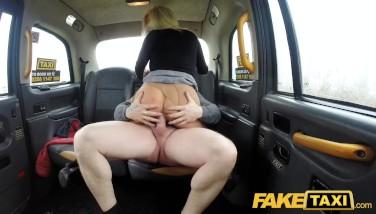 Fake Taxi Sugary-sweet Light-haired Mummy Banged Thru Torn Pantyhose On Back Seat