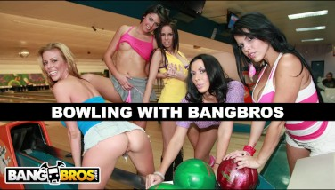 Bangbros  Bowling For Adult Movie Stars With Rachel Starr Diamond Kitten Alexis Fawx Brandy Aniston And Anastasia Morna